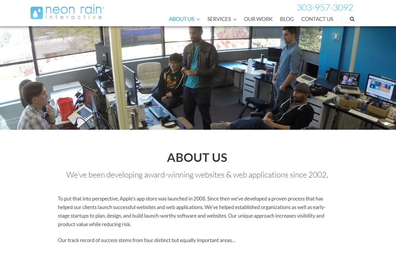 Software Companies in Denver, Colorado: Neon Rain Interactive